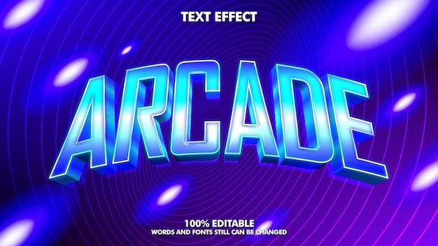 Edytowalny efekt tekstowy sytnhwave koncepcja projektu fali retro