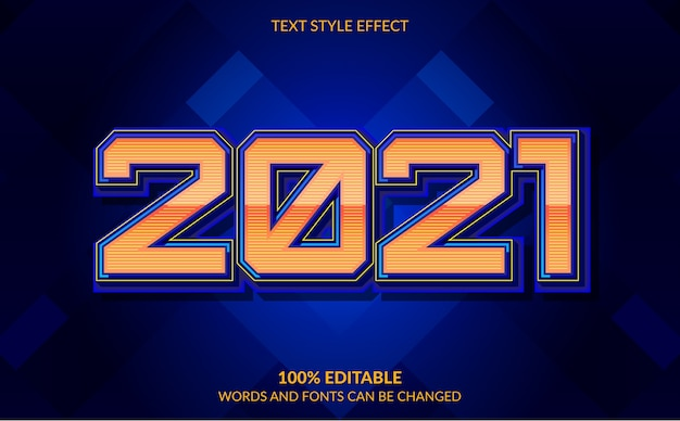 Edytowalny efekt tekstowy szczęśliwego nowego roku z abstrakcyjnym tłem