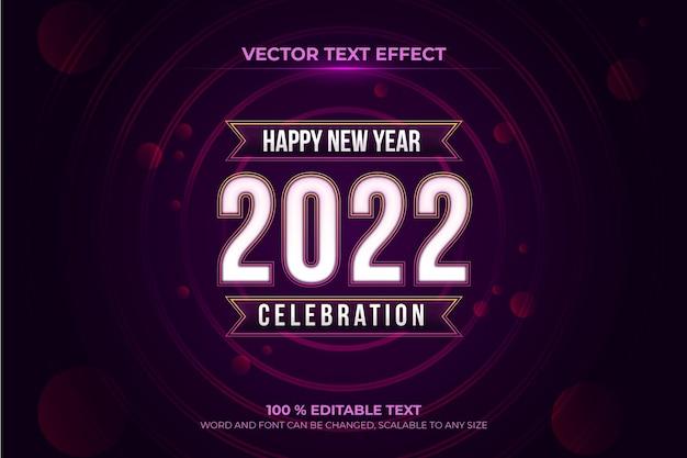 Edytowalny efekt tekstowy szczęśliwego nowego roku z fioletowym stylem backround