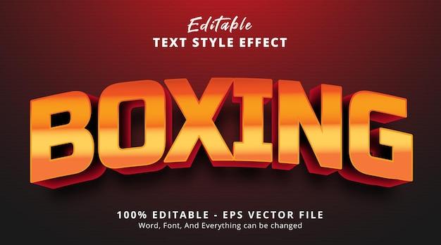 Edytowalny efekt tekstowy, tekst bokserski na ładnie kolorowym efekcie stylu nagłówka