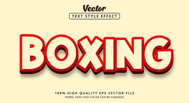 Edytowalny efekt tekstowy, tekst bokserski z jasnym stylem koloru