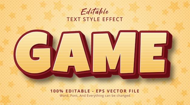 Edytowalny efekt tekstowy, tekst gry w pogrubionym stylu komiksowym