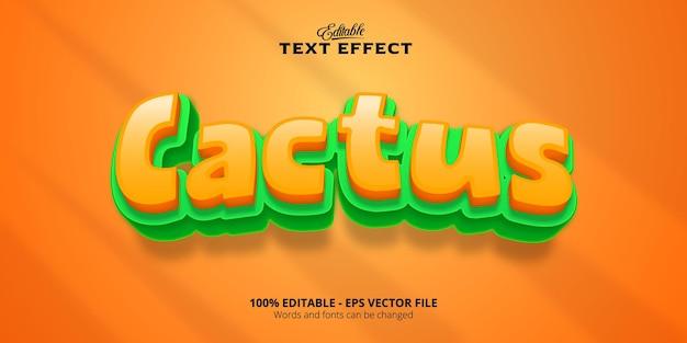 Edytowalny efekt tekstowy, tekst kaktus