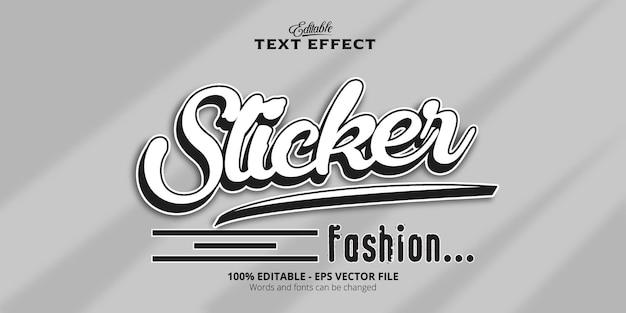 Edytowalny efekt tekstowy, tekst naklejki
