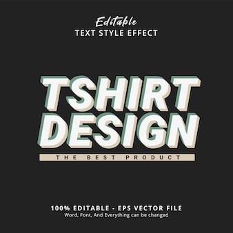 Edytowalny efekt tekstowy tekst projektu koszulki na szablonie stylu hype