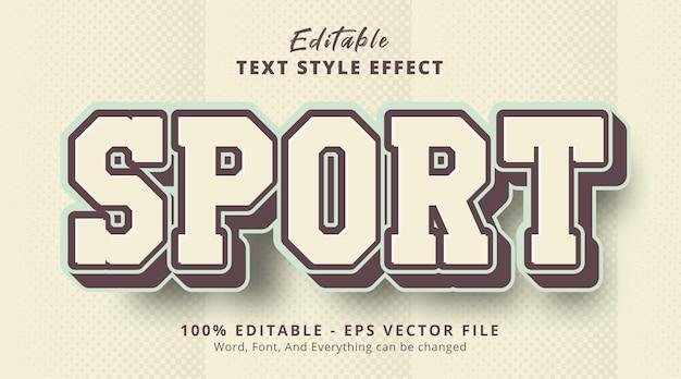 Edytowalny efekt tekstowy, tekst sportowy na efekt stylu vintage