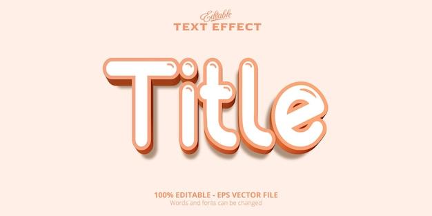 Edytowalny efekt tekstowy, tekst tytułu