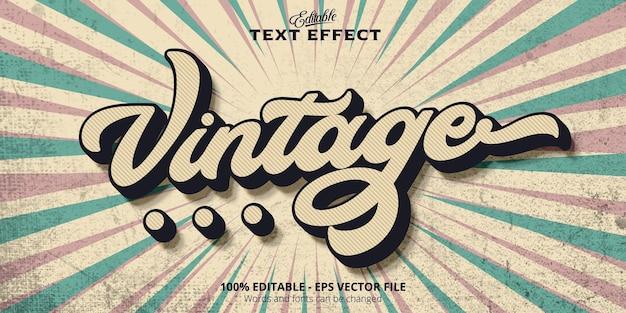 Edytowalny efekt tekstowy, tekst vintage
