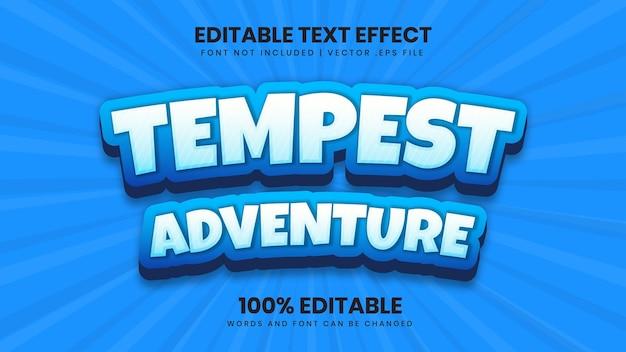 Edytowalny efekt tekstowy tempest adventure