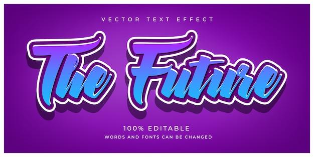 Edytowalny efekt tekstowy the future