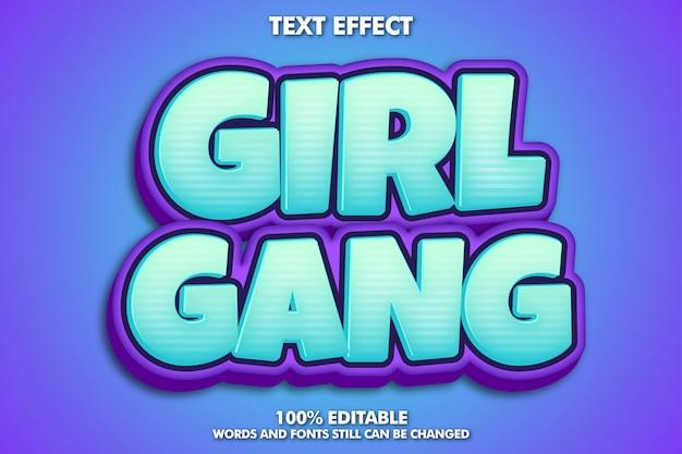 Edytowalny efekt tekstowy, typografia w stylu kreskówki