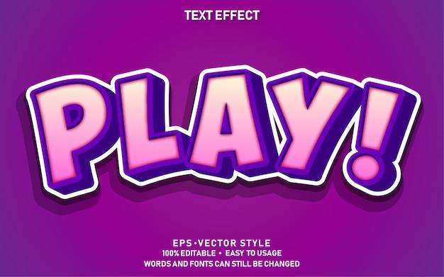 Edytowalny efekt tekstowy urocza gra