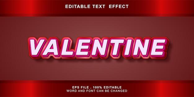Edytowalny efekt tekstowy valentine