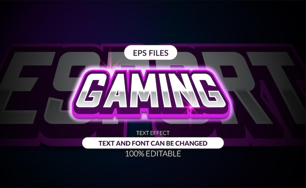Edytowalny efekt tekstowy w grach e-sport.