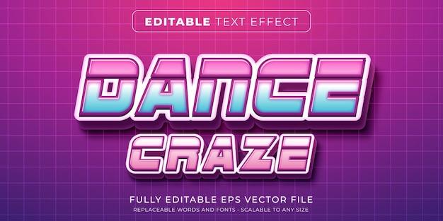 Edytowalny efekt tekstowy w nowoczesnym stylu techno