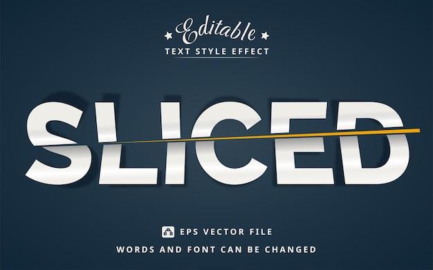 Edytowalny efekt tekstowy w plasterkach