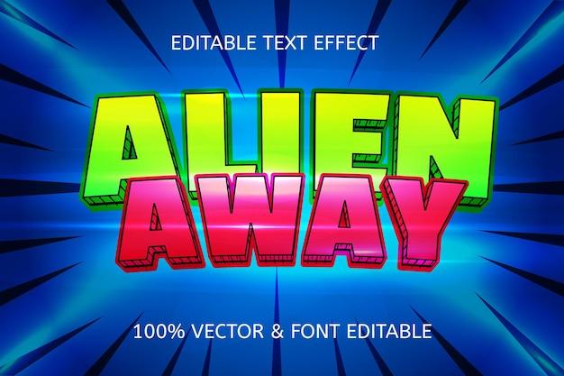 Edytowalny efekt tekstowy w stylu alien away