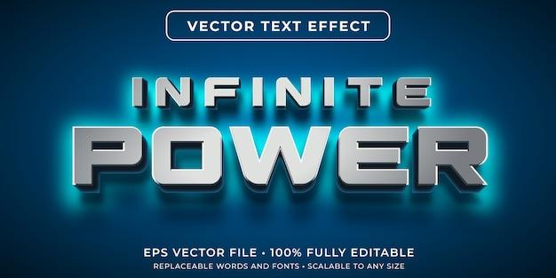 Edytowalny efekt tekstowy w stylu blasku mocy