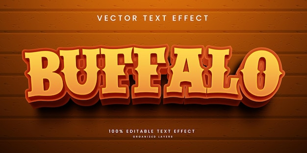 Edytowalny efekt tekstowy w stylu buffalo