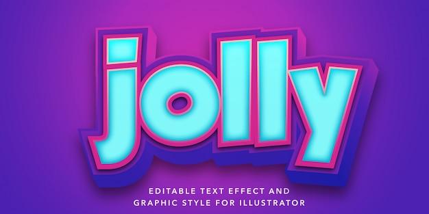 Edytowalny efekt tekstowy w stylu fioletowo-niebieskim