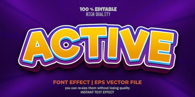 Edytowalny efekt tekstowy w stylu gry