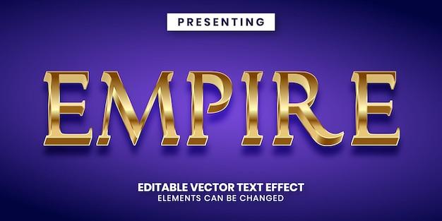 Edytowalny efekt tekstowy w stylu imperium złotego wieku