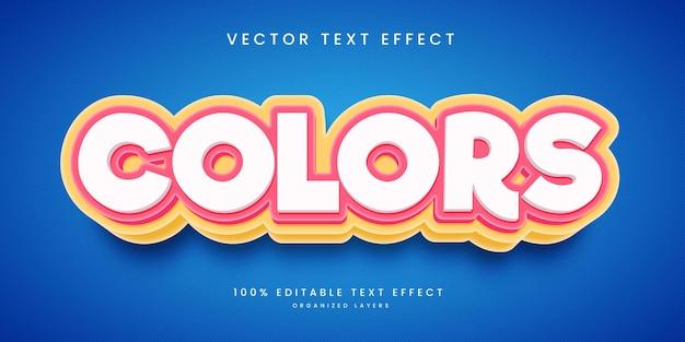 Edytowalny efekt tekstowy w stylu kolorów