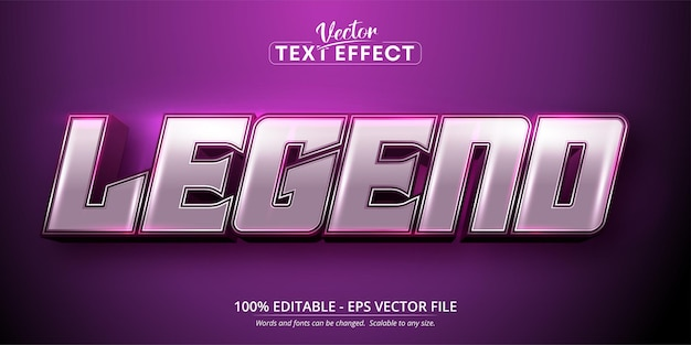 Edytowalny efekt tekstowy w stylu kreskówki legendy