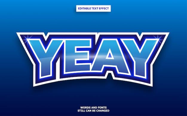 Edytowalny efekt tekstowy w stylu logo esports