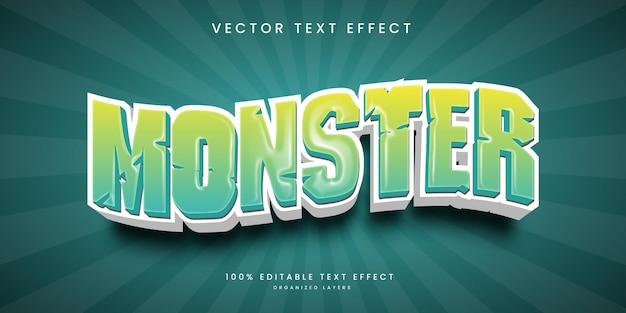 Edytowalny efekt tekstowy w stylu potwora