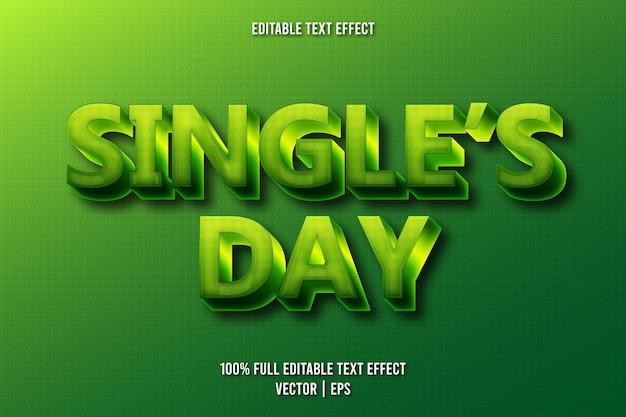 Edytowalny efekt tekstowy w stylu retro na dzień singli