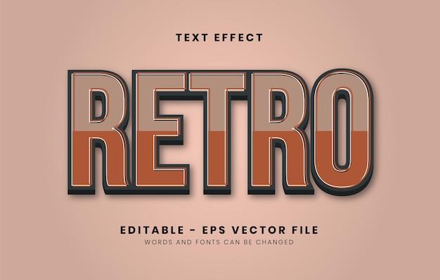 Edytowalny efekt tekstowy w stylu retro