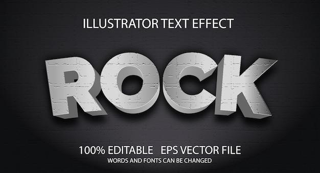 Edytowalny efekt tekstowy w stylu rockowym
