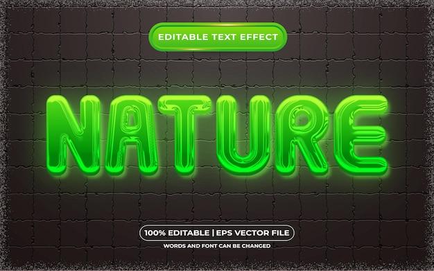 Edytowalny efekt tekstowy w stylu światła naturalnego