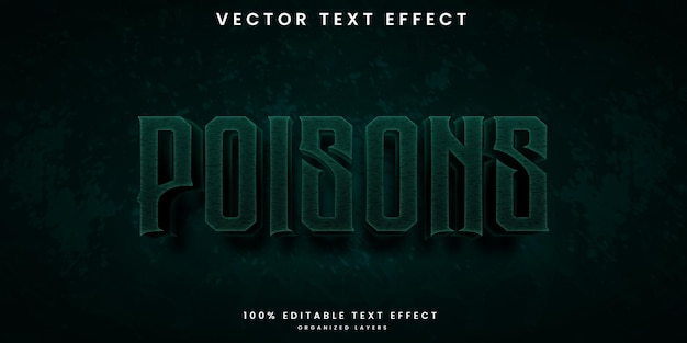 Edytowalny efekt tekstowy w stylu trucizny