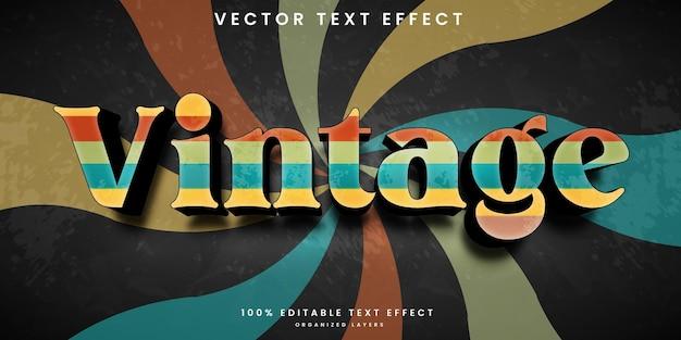 Edytowalny efekt tekstowy w stylu vintage