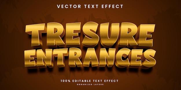 Edytowalny efekt tekstowy w stylu wejścia do skarbu