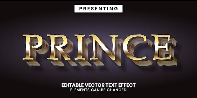 Edytowalny efekt tekstowy w stylu złotego wieku