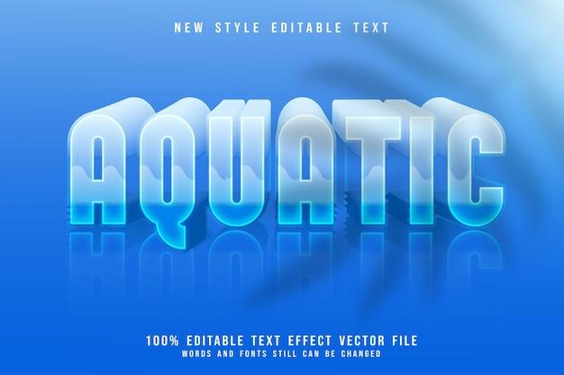 Edytowalny efekt tekstowy w wodzie 3-wymiarowy tłoczony niebieski styl