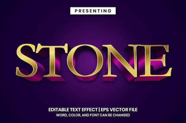 Edytowalny efekt tekstowy w złotym stylu vintage