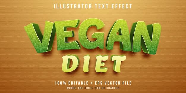 Edytowalny efekt tekstowy - wegański styl
