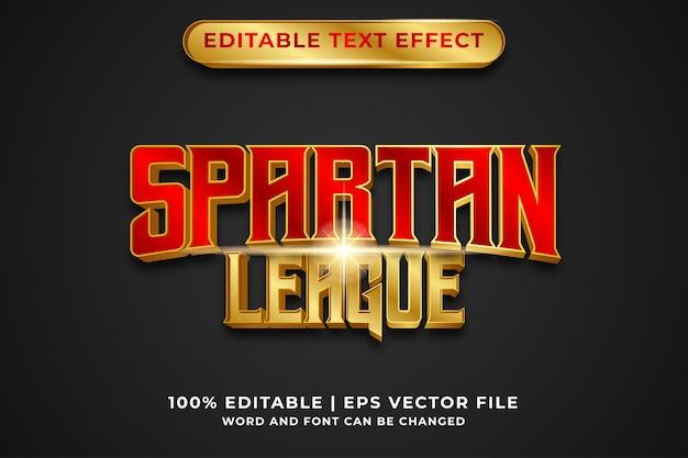 Edytowalny efekt tekstowy - wektor premium w stylu luksusowego szablonu ligi spartan