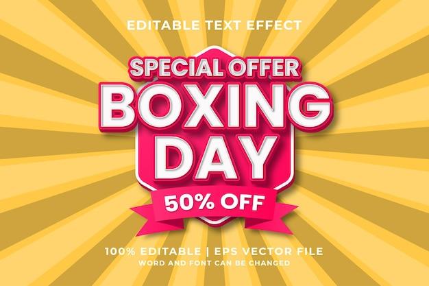 Edytowalny efekt tekstowy - wektor premium w stylu szablonu boxing day