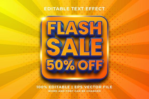 Edytowalny efekt tekstowy - wektor premium w stylu szablonu flash sale