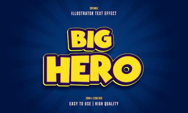 Edytowalny efekt tekstowy wielkiego bohatera