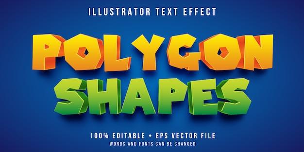 Edytowalny efekt tekstowy - wielokątny styl tekstu