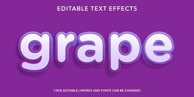 Edytowalny efekt tekstowy winogron