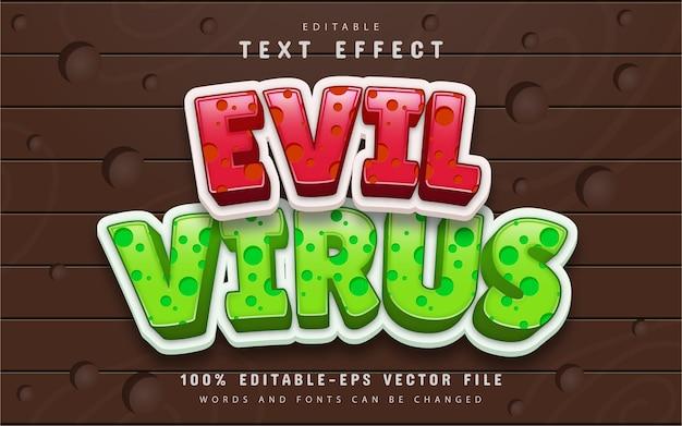 Edytowalny efekt tekstowy wirusa zła