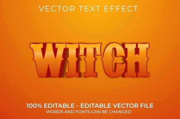 Edytowalny efekt tekstowy witch 3d