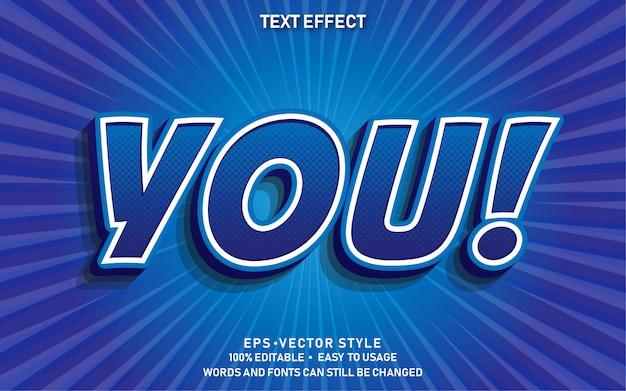 Edytowalny efekt tekstowy you comic